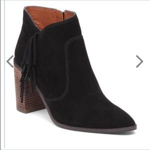 NWOT Lucky Brand Mercer Black Suede Ankle Boot